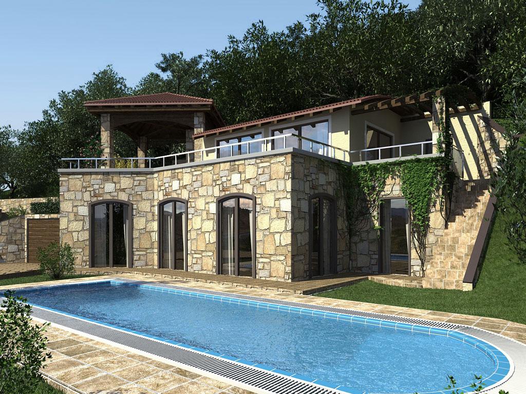 Bilder aus dem Beitrag: 3D Architekturvisualisierung ''Torri del Benaco''