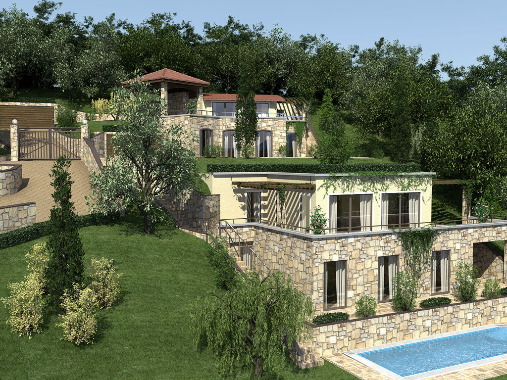 Bilder aus dem Beitrag: 3D architectural visualization ''Torri del Benaco - Italy''