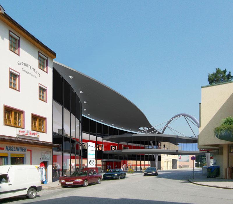 Bilder aus dem Beitrag: 3D architectural visualization ''Kufstein Galerien''