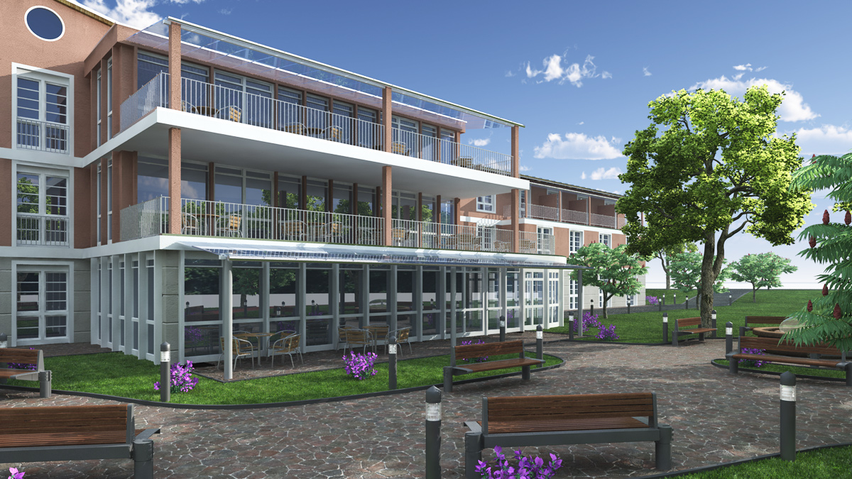Bilder aus dem Beitrag: 3D architectural visualization ''retirement home Marzling''