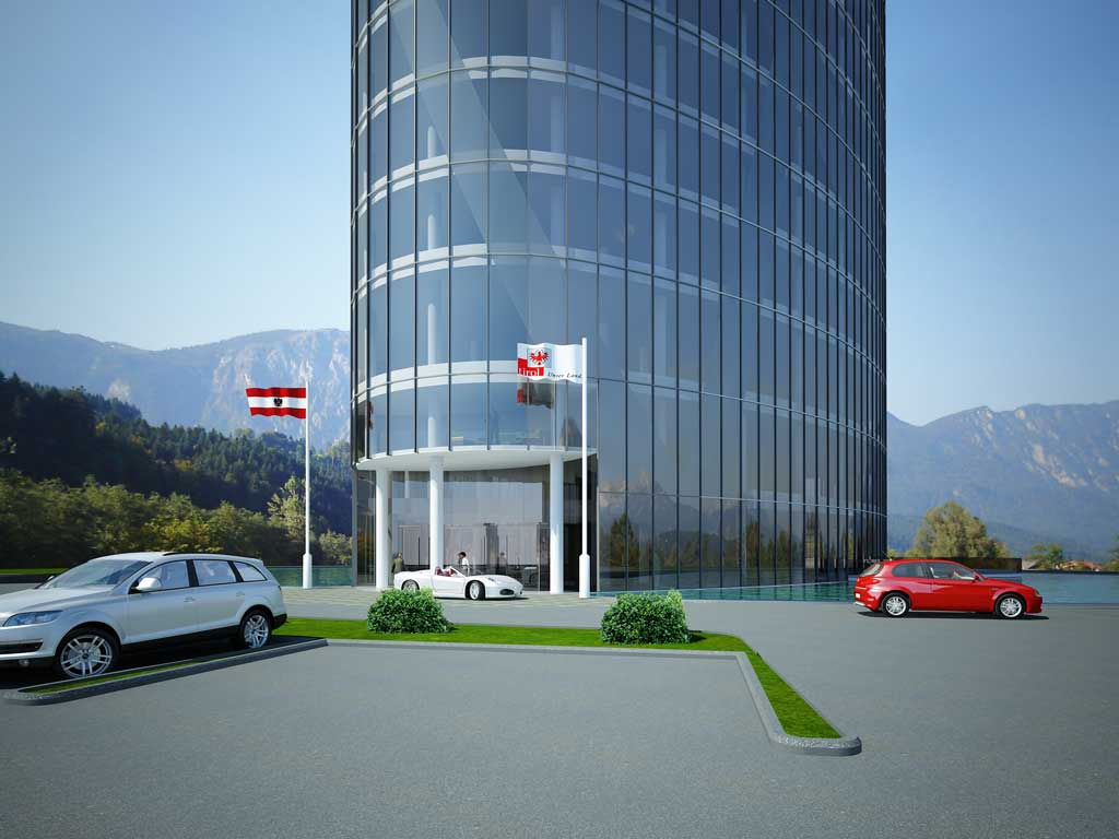 Bilder aus dem Beitrag: 3D architectural visualization ''Tyrol Tower'' (exteriors)