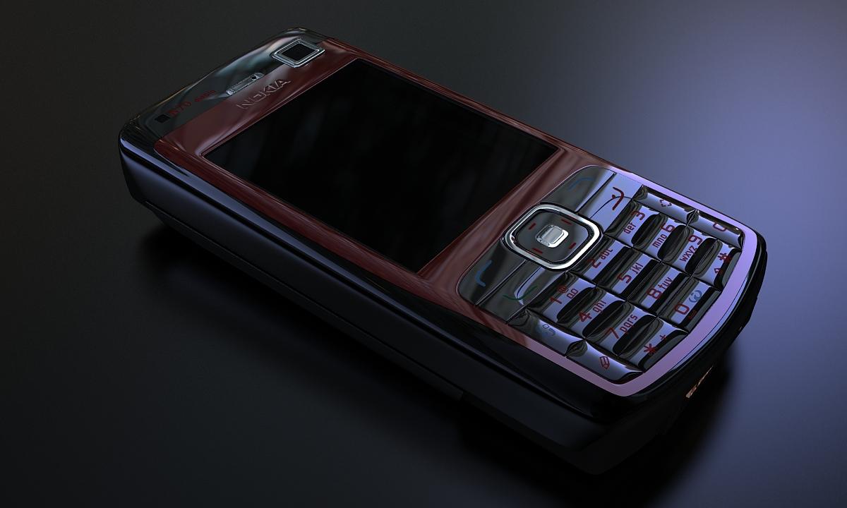 Bilder aus dem Beitrag: 3D product visualization ''Nokia N70 Diablo''